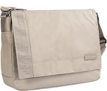 Herren Tasche  Messenger Bag Microfaser beige