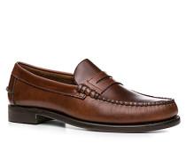 Schuhe Loafer Leder dunkelbraun