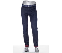 Herren Jeans Regular Slim Fit Baumwoll-Stretch dunkelblau