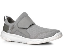 Schuhe Slip Ons Textil hellgrau