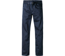 Jeans Classic Comfort Fit Baumwolle beschichtet dunkelblau