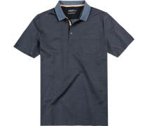 Polo-Shirt Polo, Baumwolle mercerisiert, navy gepunktet