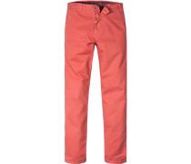 Herren Hose Chino Regular Fit Baumwoll-Stretch orangerot rot,rot