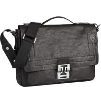 Herren Tasche strellson Briefcase Genarbtes Leder schwarz
