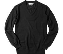 Pullover Merinowolle schwarz