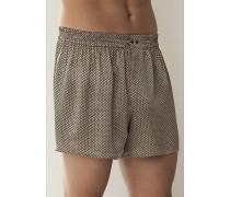 Herren Schlafanzug Boxer-Shorts Seide in 3 Farben grau,schwarz