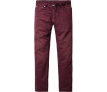 Herren strellson Sportswear Jeans Hammett Straight Fit Baumwolle bordeaux rot