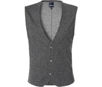 Pullover Weste Baumwolle meliert