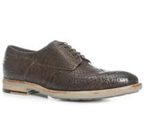 Schuhe Budapester, Kalbleder geprägt, grigio