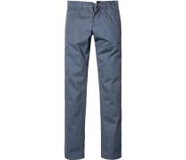 Herren Jeans Straight Fit Baumwoll-Stretch blau