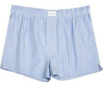 Unterwäsche Boxer-Shorts Popeline hellblau-weiß kariert