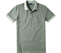 Herren Polo-Shirt Polo Modern Fit Baumwoll-Piqué grün meliert