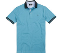 Polo-Shirt Polo, Baumwoll-Pique, capriblau
