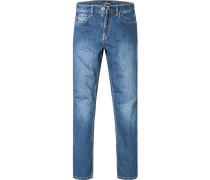 Jeans Regular Comfort Fit Baumwoll-Stretch jeansblau