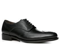 Herren Schuhe Budapester Kalbleder schwarz schwarz,braun