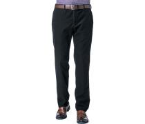 Herren Hose Cord-Chino Modern Fit Baumwoll-Stretch schwarz