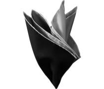 Herren Accessoires  Einstecktuch Seide schwarz-grau