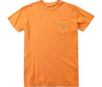 Herren T-Shirt Baumwolle orange