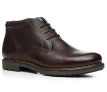 Herren Schuhe Stiefelette Leder warm gefüttert dunkelbraun braun,braun