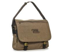 Herren Tasche  Messenger Bag Microfaser sand braun
