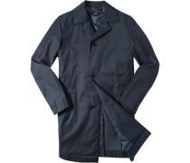 Mantel Baumwolle halbgefüttert wasserabweisend dunkelblau