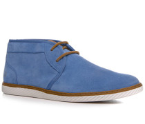 Herren Schuhe Desert Boots Veloursleder capriblau
