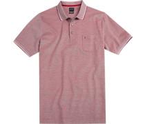 Polo-Shirt Polo Modern Fit Baumwoll-Piqué dunkelrot