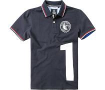 Polo-Shirt Polo Baumwoll-Piqué navy