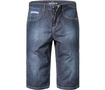 Herren Jeans-Bermudas Baumwolle blau