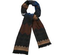 Schal Wolle schwarz- gemustert