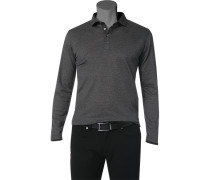 Polo-Shirt Polo Baumwoll-Jersey schwarz- gepunktet