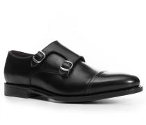 Herren Schuhe Doppelmonkstraps Kalbnappa schwarz schwarz,braun