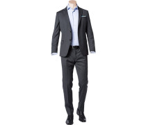 Anzug, Slim Fit, Schurwolle Super130 Loro Piana, anthrazit meliert