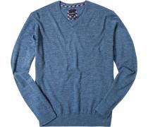 Herren Pullover Baumwolle blau