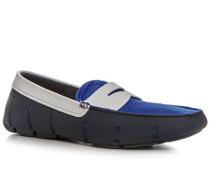 Schuhe Loafer Microfaser wasserabweisend navy
