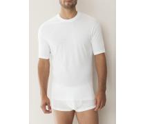 T-Shirt Baumwolle mercerisiert weiß oder