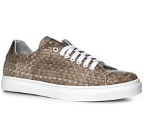 Schuhe Sneaker Leder greige