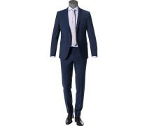 Anzug, Shape Fit, Wolle-Stretch, dunkelblau