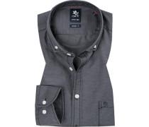 Hemd, Modern Fit, Baumwolle, meliert