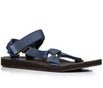 Herren Schuhe Sandalen Microfaser taubenblau