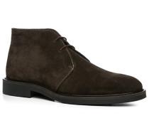 Herren Schuhe Desert-Boots Veloursleder dunkelbraun braun,beige