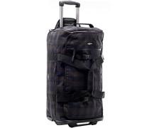 Tasche Reisetasche mit Rollen Microfaser -braun kariert