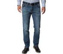 Blue-Jeans Modern Fit Baumwoll-Stretch denim