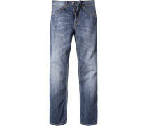 Herren Jeans Regular Fit Baumwoll-Stretch jeansblau