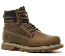 Schuhe Schnürstiefeletten Nubukleder hellbraun