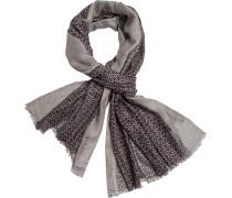 Schal, Modal-Wolle, -greige gemustert