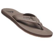 Schuhe Zehensandalen, Kunstleder, khaki