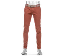 Hose Chino Rob Slim Fit Baumwolle T400® rotbraun