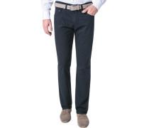 Jeans Regular Fit Baumwoll-Stretch nachtblau