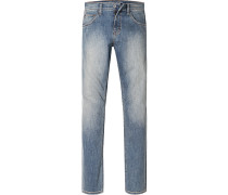 Herren Blue-Jeans Comfort Fit Baumwoll-Stretch blau